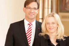 Bild 401: Seit 2009 im Amt: Der Landesvorsitzende Florian Pronold und die Generalsekretärin Natascha Kohnen [BayernSPD]
