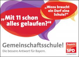 Lexikon Bild 096: Kampagne für die Gemeinschaftsschule [SPD-Landtagsfraktion]